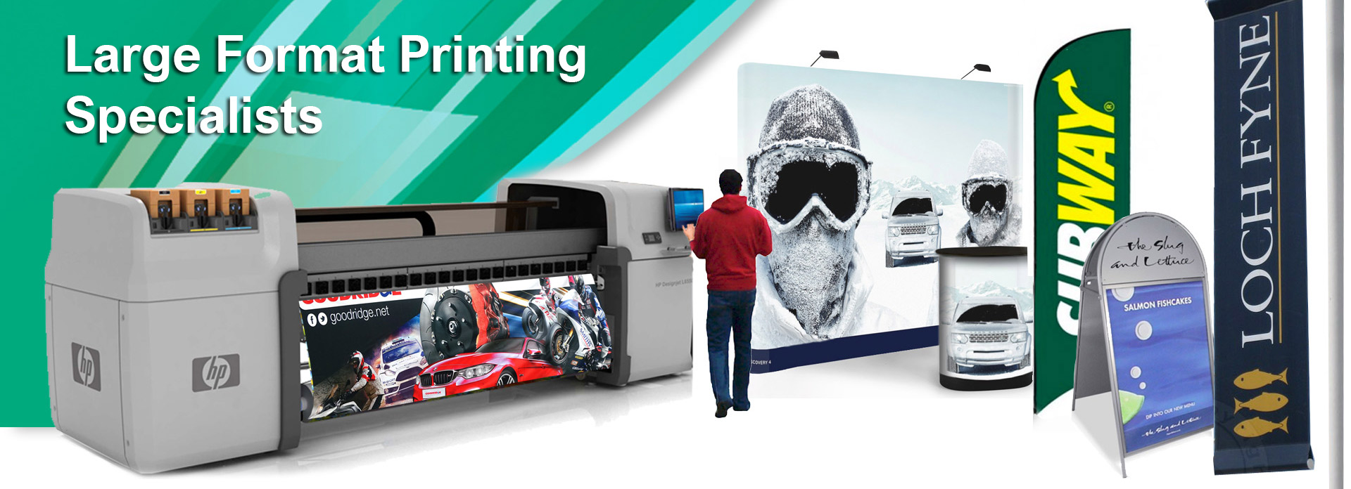 Large Format Printing, banners, posters, wallpaper
