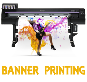 banner printing, roller banner printing, indoor and outdoor banners, L Banner